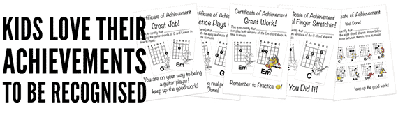 The best age to learn guitar and how to keep your students motivated by awarding certificates of achievement