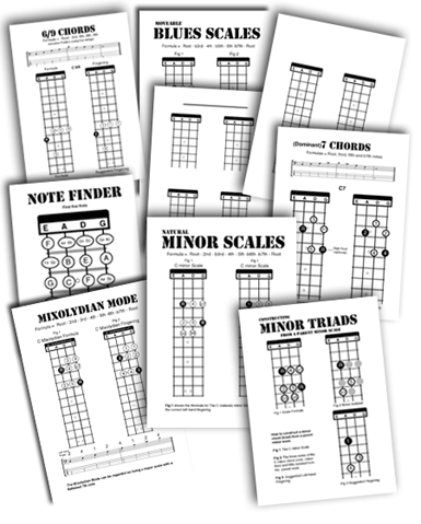 bass guitar teaching handouts scales and blank necks