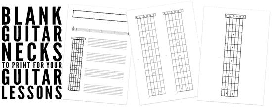 Blank Guitar Necks And Printable Tab Sheets For Guitar Teachers
