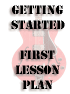 first guitar lesson plan