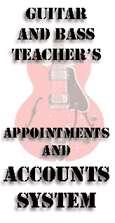 guitar teacher's accounts system