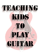 teaching guitar to children