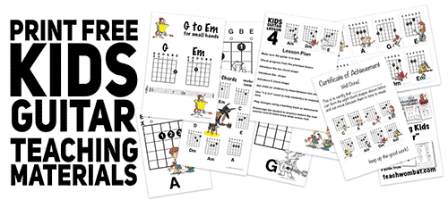 free kids guitar teaching resources