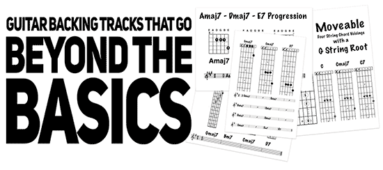 guitar backing track for intermediate and advanced students