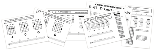 backing tracks in a pedagogical approach to teaching guitar