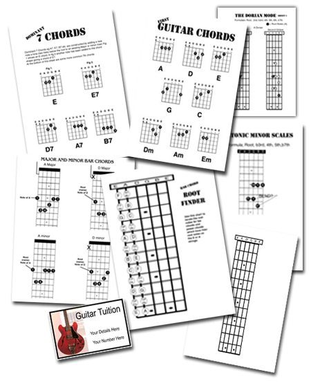guitar teaching lesson handouts