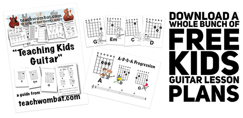 How to teach children to play guitar lesson plans to download