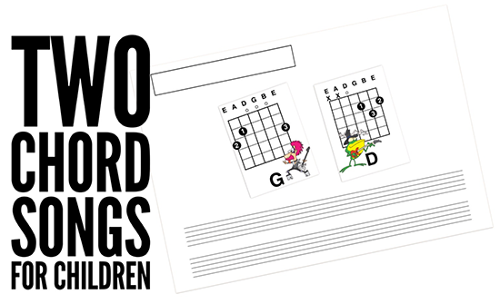 easy two chord songs for a child to play on guitar