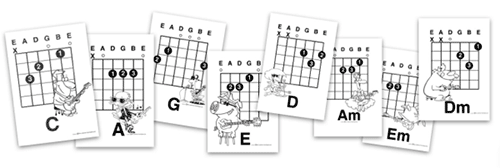 Guitar chords lessons