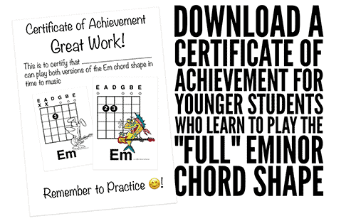 download a free kids guitar certificate of achievement