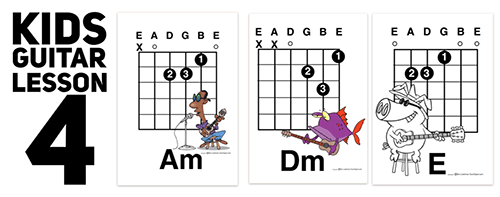 the fourth in a series of lessons designed to help teach kids guitar