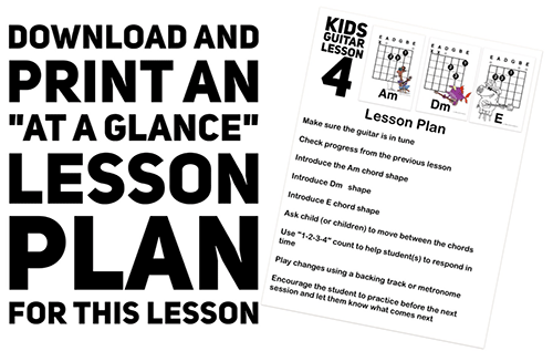 download a free kids guitar lesson plan for this session
