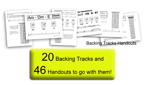 Kids Guitar Lessons Backing Tracks and Chord Sheets