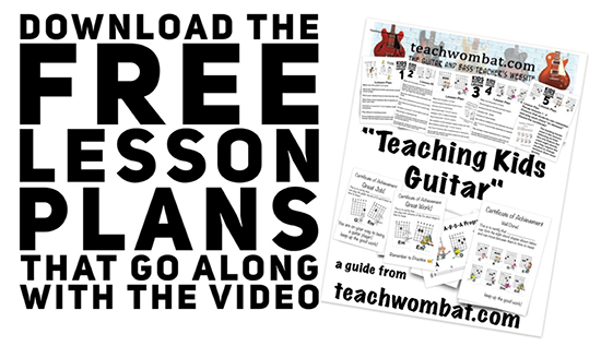 Easy Guitar Songs and Lesson Plans For Kids