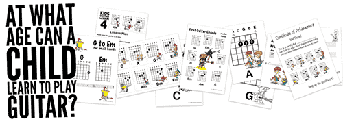 This page takes a look at the question At what age can a child learn to play the guitar?