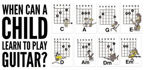 Easy Kids Guitar Songs Using The Chords That Children Should Learn First